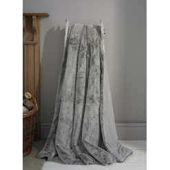 Alaska Silver Faux Fur Throw