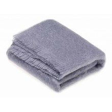 Blue Dusk Mohair Throw