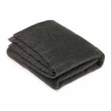 Gun Metal Mohair Throw