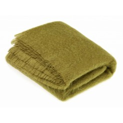 Hazel Green Mohair Throw