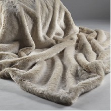 Beige Frost Throw