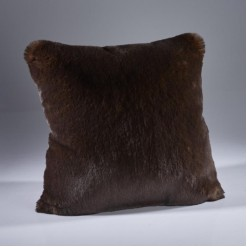 Brown Bear Faux Fur Cushion