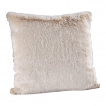 Beige Frost Faux Fur Cushion