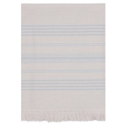 Dina Bath Towel-Steel Beige/Blue