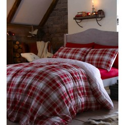 Tartan Red Extra Pillowcases-Pairs