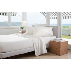 White 300tc Cotton Percale Fitted Sheets