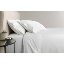 White 300tc Cotton Percale Tailored PC