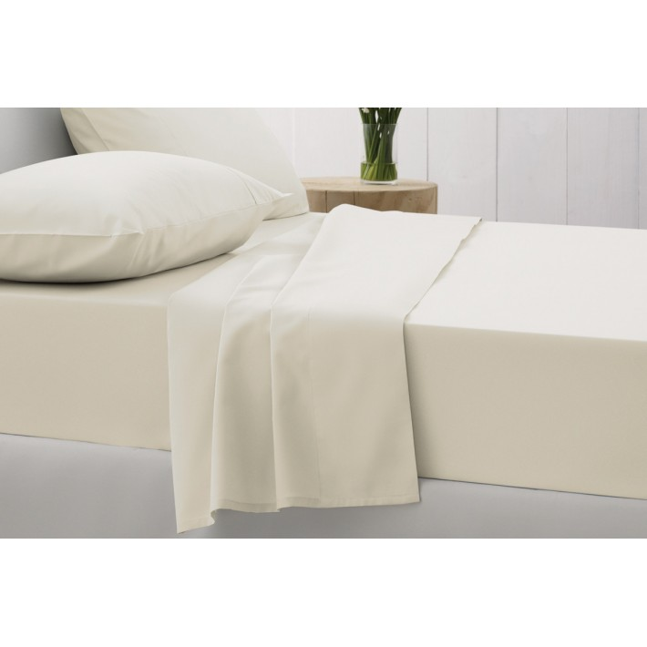Chalk 500tc Cotton Sateen Fitted Sheets