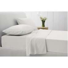 White 500tc Cotton Sateen Flat Sheets
