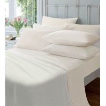 Brushed Cotton Fitted Sheets-Cream