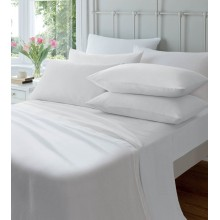 Brushed Cotton SUPER KING Flat Sheets-White