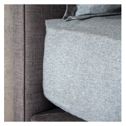 Grey Brushed Cotton Fitted Sheets