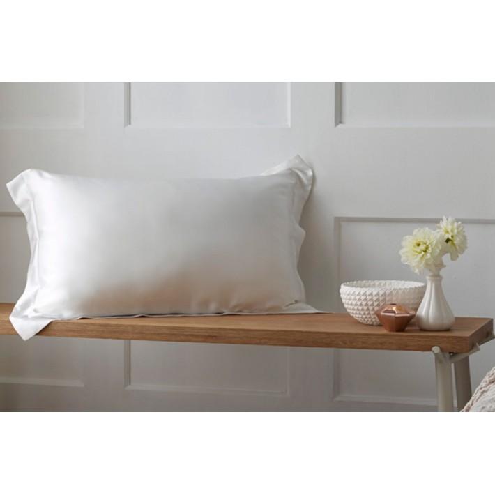 100% Silk Pillowcase-White