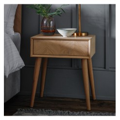 Milano 1 Drawer Lamp Table