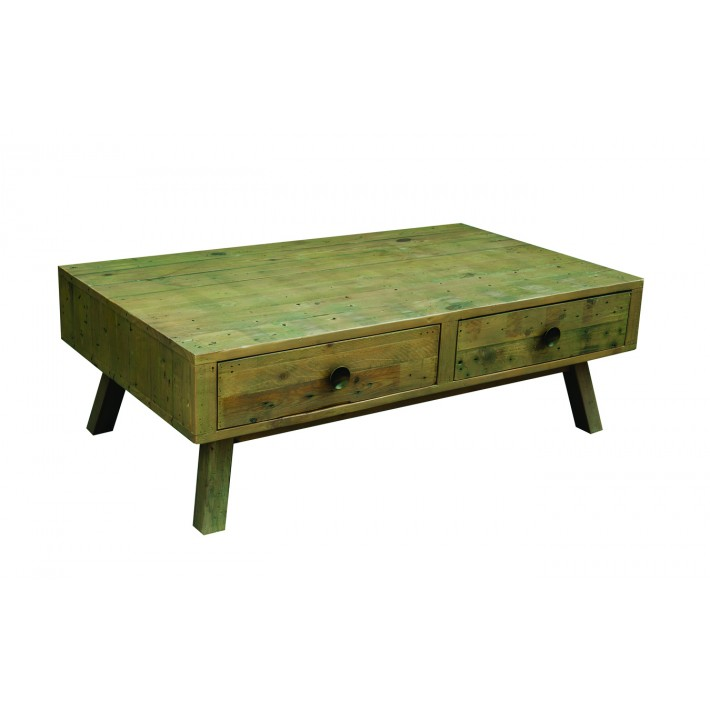 Rustica Coffee Table with Double Drawers