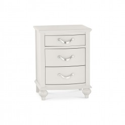 Marseilles Cotton 3 Drawer Bedside