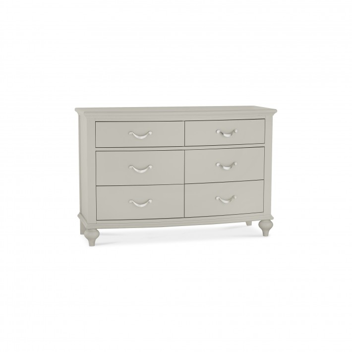 Marseilles French Grey 6 Drawer Wide Chest
