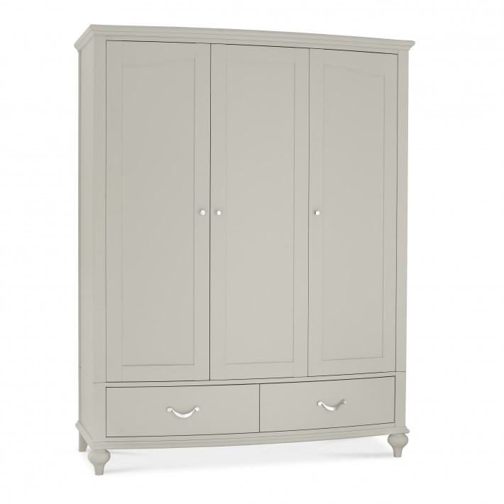 Marseilles French Grey Triple Wardrobe